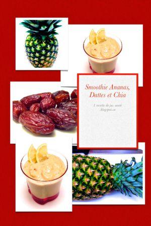 Recette Smoothie à l'Ananas, aux Dattes et aux Graines de Chia