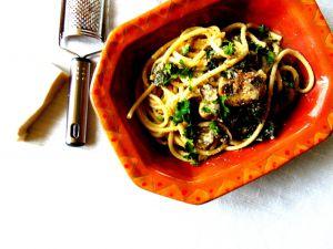 Recette Pâtes aux champignons et kale