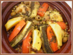 Recette Tajine au légumes