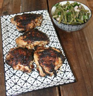 Recette Poulet mariné au barbecue