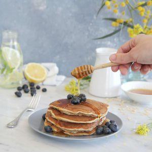 Recette Healthy Pancakes Avoine et Farine Compléte