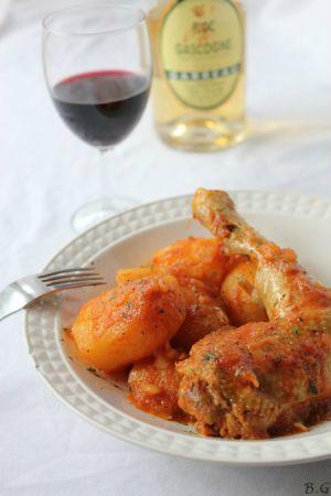 Recette Cuisses de poulet au Floc de Gascogne