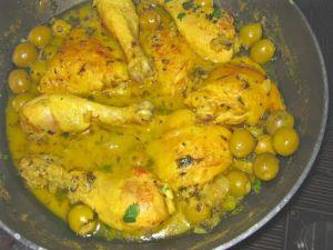Recette Poulet aux olives