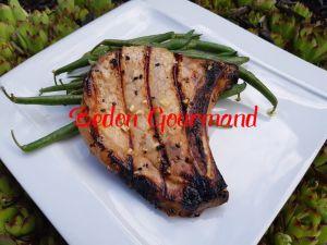 Recette Côtelettes de porc au miel, à la sauce soya et à l'hydromel