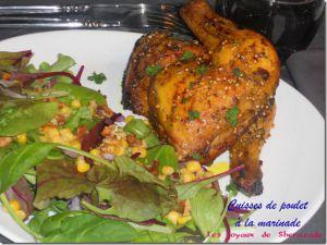 Recette Cuisses de poulet marinées au four