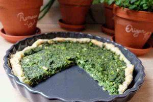 Recette Quiche aux épinards et aux brocolis