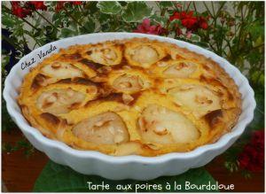 Recette Tarte aux poires à la Bourdaloue