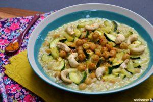 Recette Curry de pois chiche au lait de coco et courgette