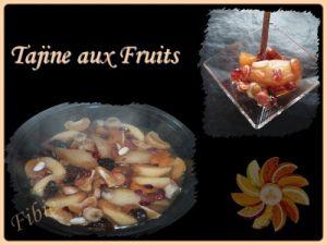 Recette Tajine aux fruits
