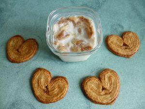 Recette Yaourts maison diététiques aux biscuits palmiers (sans sucre)