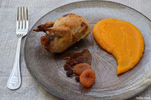 Recette Caille farcie à l'orange et pain d'épice
