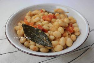 Recette Haricots blancs à la tomate
