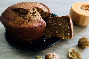 Recette Cake à la courge Butternut et noix