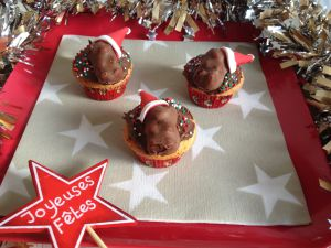 Recette Cupcakes de Noël : chamallow, Nutella, ourson à la guimauve