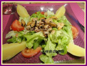 Recette Salade verte aux fruits de mer