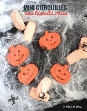 Recette Mini citrouilles aux biscuits roses