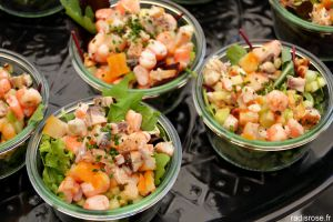 Recette Salade de pommes de terre, langoustines, haddock et granny smith