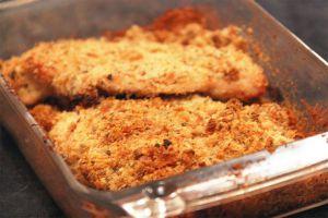 Recette Blancs de poulet au four au parmesan