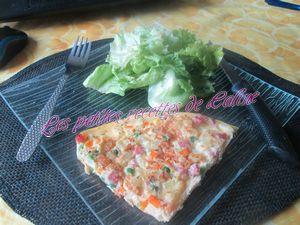 Recette Frittata au jambon et légumes
