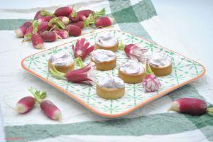 Recette Tartelettes de crème de radis