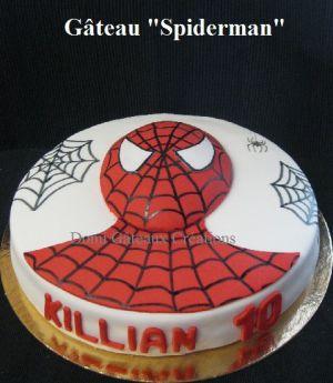 """Recette Gâteau """"Spiderman"""" en Pâte à Sucre"""