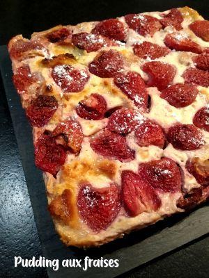 Recette Pudding aux fraises