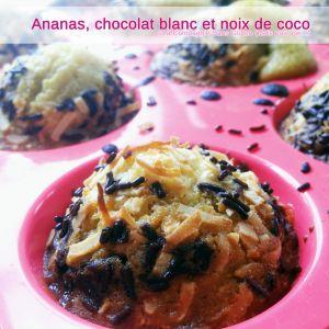 Recette Muffins à l'ananas, au chocolat blanc et à la noix de coco