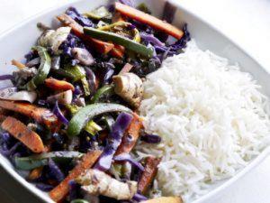 Recette Cuisine alcaline: wok saveurs thaï aux 5 légumes