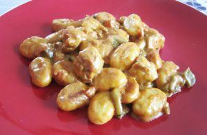 Recette Gnocchi à poêler au poulet, lait de coco parfumé au tandoori | Dans la cuisine de Maggy