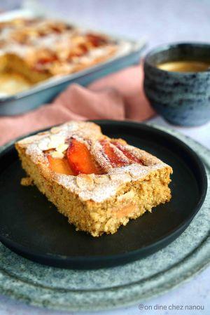 Recette Gâteau très moelleux vegan aux amandes et aux coings