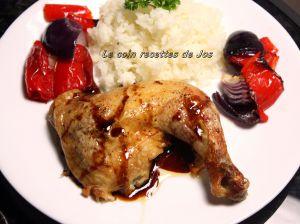 Recette Cuisses de poulet érable et soya