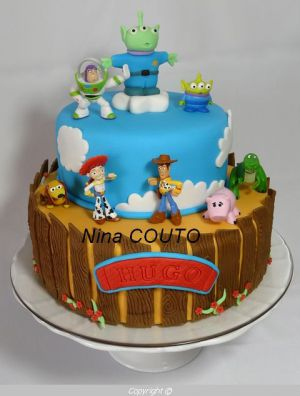 """Recette Gâteau """"Toy Story"""" en pâte à sucre"""