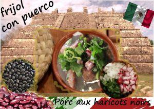 Recette Sauté de porc aux haricots noirs (cuisine Yucatan, Mexique)