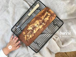 Recette Gâteau marbré vanille chocolat de Mamie