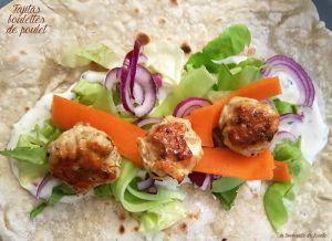 Recette Fajitas maison avec boulettes de poulet, légumes et sauce yaourt