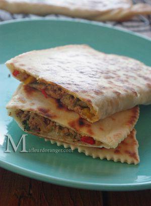 Recette Gozleme à la viande épicée : Crêpes turques