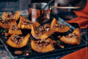 Recette Potimarron au four, miel et noix de pecan