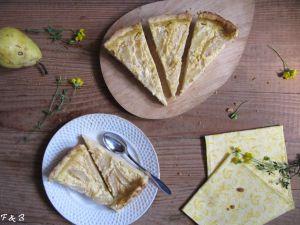 Recette Tarte aux poires et caramel d'orange