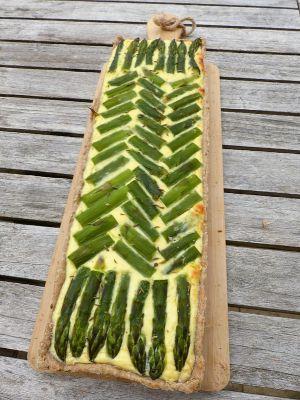Recette Quiche aux asperges vertes et à la ricotta