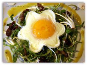 """Recette Salade de pissenlits et oeufs"""" marguerite&quot"""