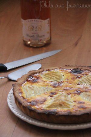 Recette Tarte aux poires & à la crème de marrons