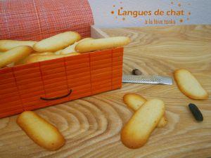 Recette Langues de chat à la fève tonka