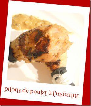 Recette Pilons de poulet à l'indienne, curry de poulet