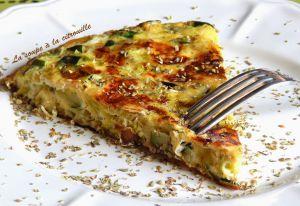 Recette Tortilla de courgettes et poireaux à l'origan