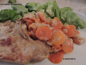 Recette Côtes de porc aux carottes