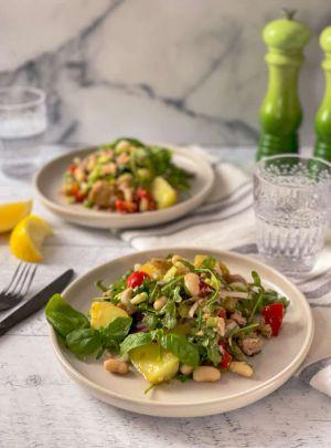 Recette Salade de thon, haricots et pommes de terre à la sicilienne