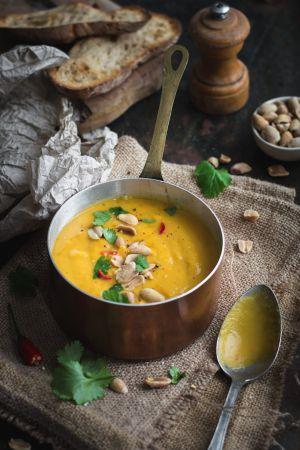 Recette Soupe de butternut au beurre de cacahuètes