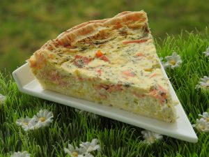 Recette Tarte poireaux, saumon fume et gorgonzola (thermomix)