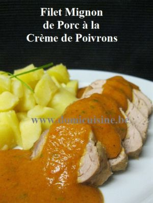 Recette Filet Mignon de Porc au Poivron