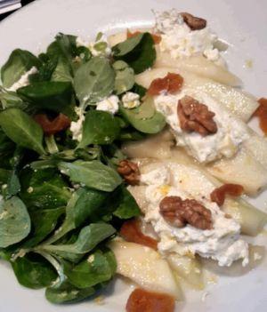 Recette Salade ricotta poires et fruits secs